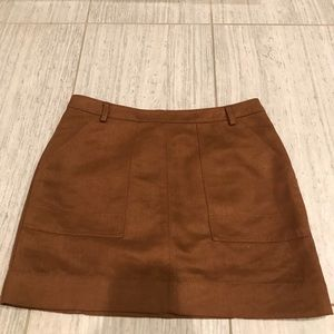 Brown suede skirt!!